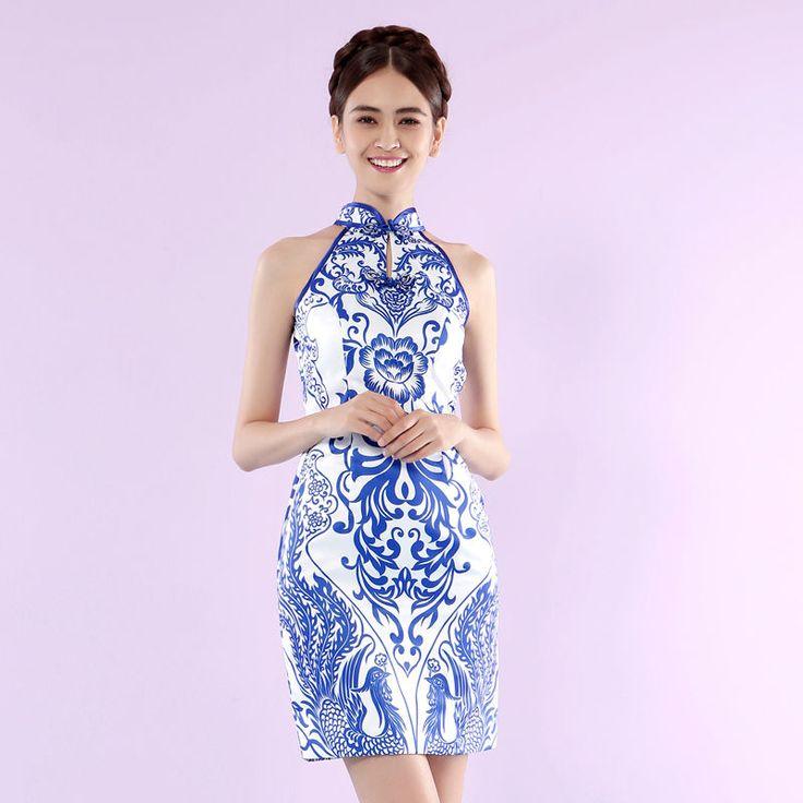 Buy Angel Bridal Sleeveless Embroidery Cheongsam | YesStyle
