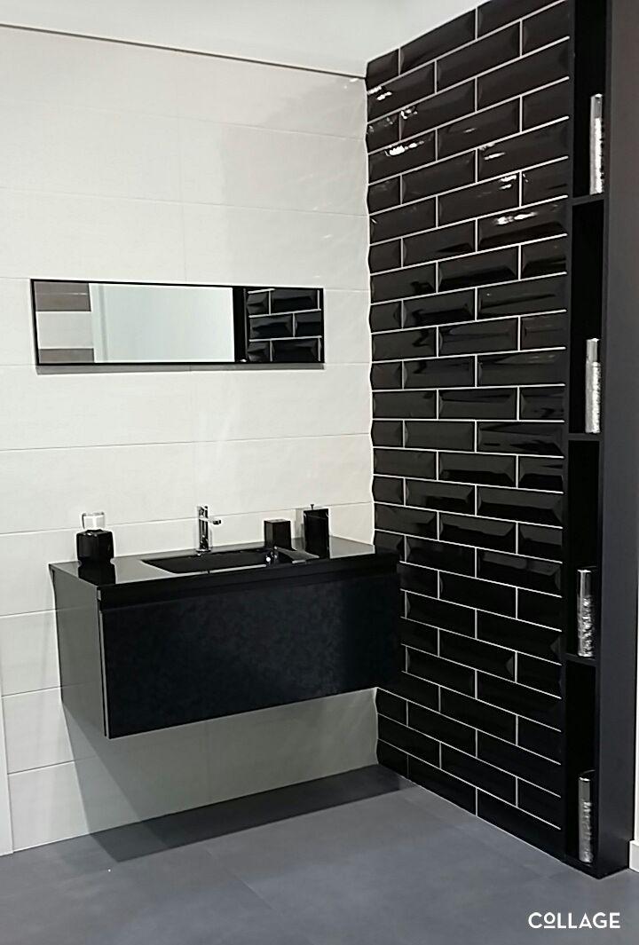 #Imagine de #Collage visto en #Cersaie2015 #Cersaie #Baño #interiorismo #decoración #black&white