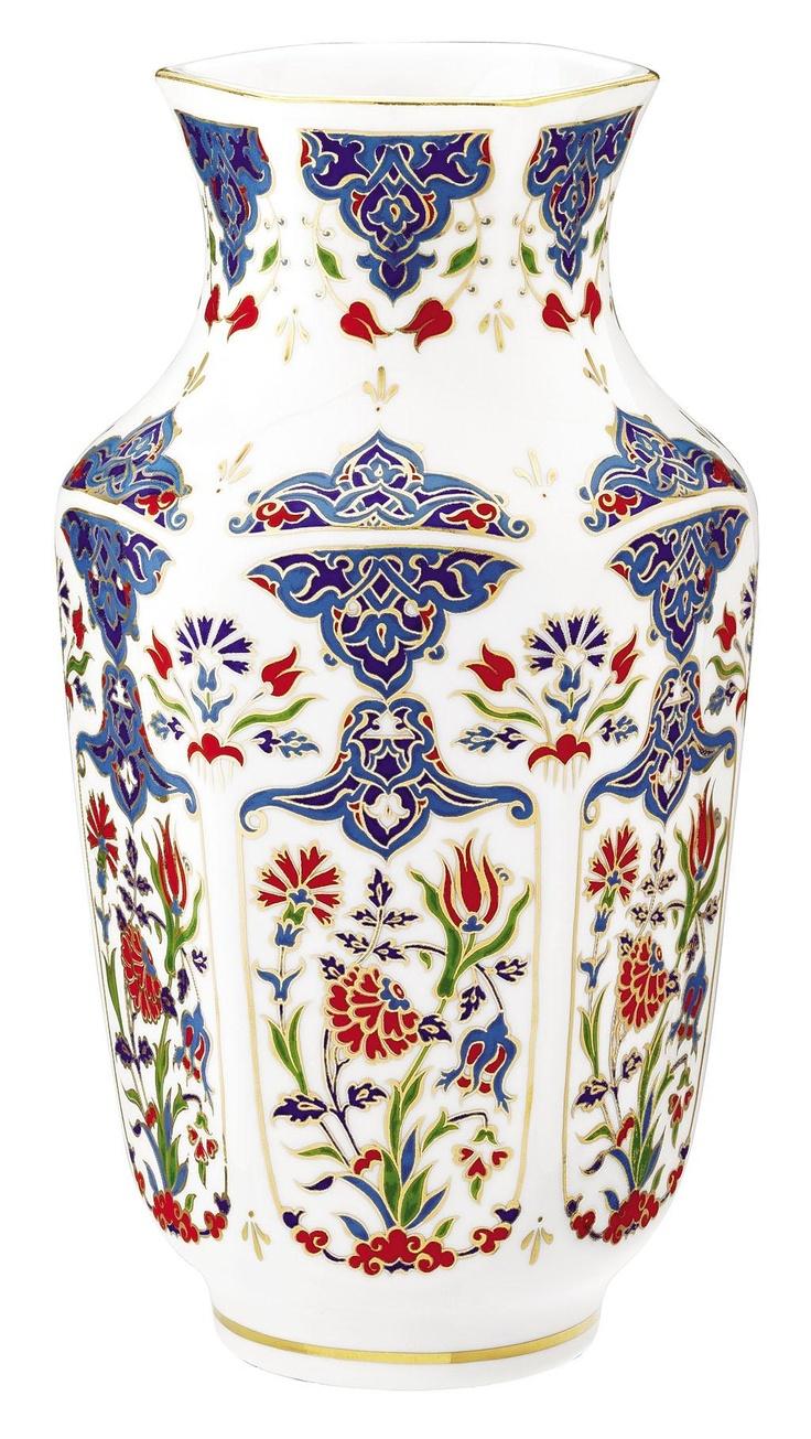 Antik 25 cm Vazo | Kütahya Porselen