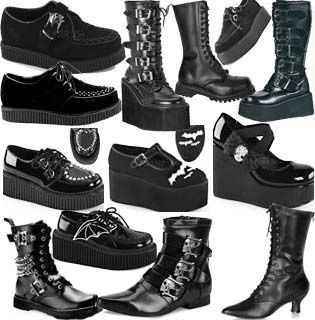 New Demonia boots and shoes now at www.ipso-facto.com and our Fullerton, CA store.