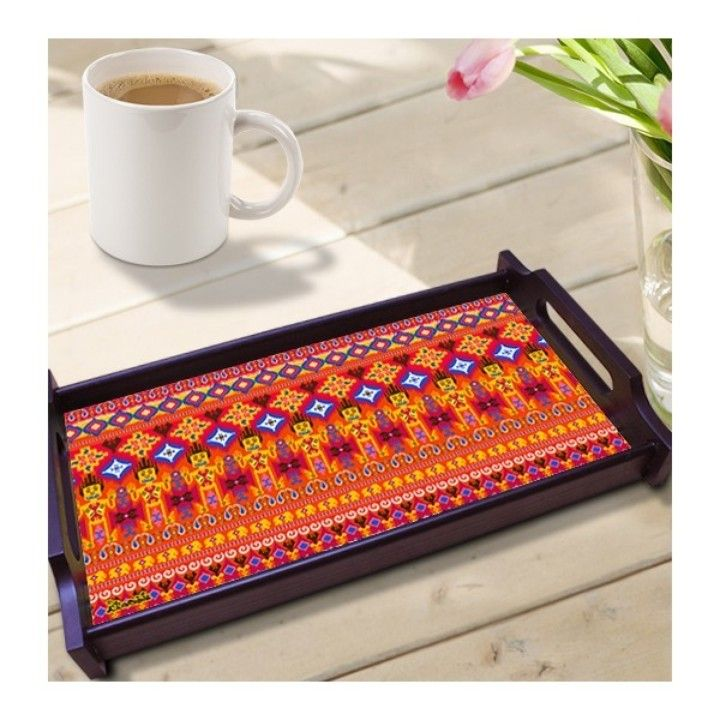 IKAT Wooden Tray from MYNA U.S.A. for $19.99