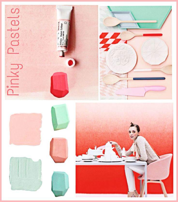 Trend watching pinky pastels moodboard design. Trends summer 2014
