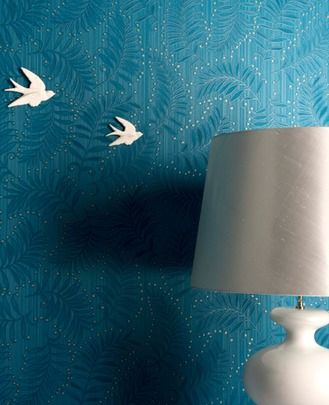 Fern: Teal wallpaper  this one might be my favourite so far
