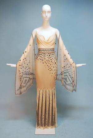 1930s Lanvin chiffon evening gown
