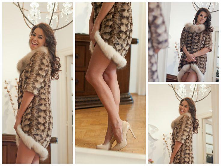 Diana Bart wearing a splendid fur