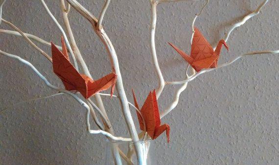 Printed origami crane wedding crane set of 100 by Handmadegiftbox