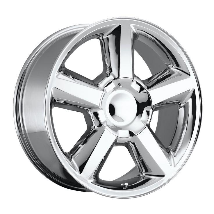 Chevrolet Tahoe 2007-2012 20x8.5 6x5.5  30 - Replica Wheel -  Chrome With Cap
