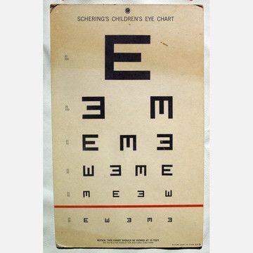 Vintage Children's Eye Chart