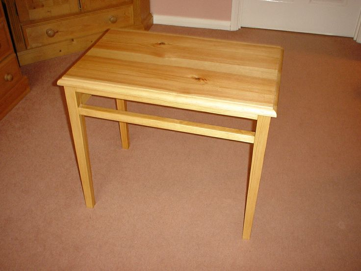 A small pine table I made on a woodworking course many years ago