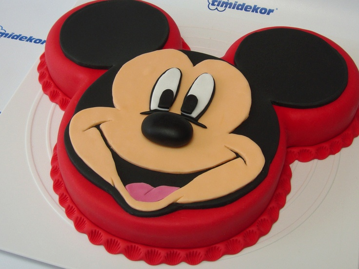 Disney Themed Cakes - Mickey Mouse fondant cake