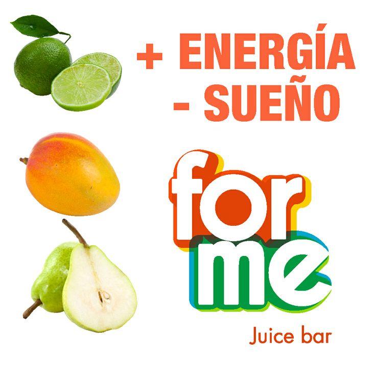 + energía, - sueño #ForMeJuiceBar http://goo.gl/khNlj0