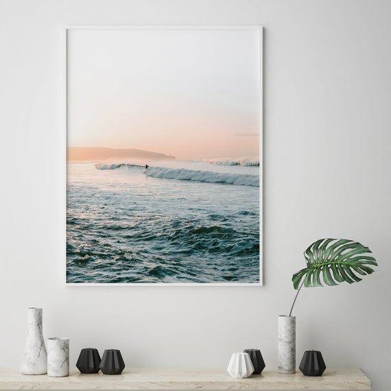 Surf Print Beach Coastal Wall Art Ocean Photography Printable