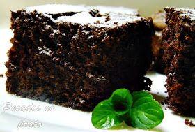 Brownie de chocolate com pedaços de chocolate preto