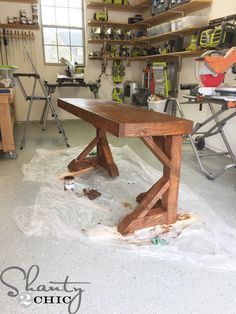 The design is inspired after my Dining Table that you can see HERE.  I love it so much that I decided to build a desk very similar. I hit up our friend, Jamison a.k.a. Rogue Engineer to design the plans and he did an AMAZING JOB! We created this 5 ft. long desk for only {...Read More...}
