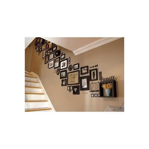 Yellow & black color theme for new house / On My Side of the Room: Picture Frame Mural found on Polyvore