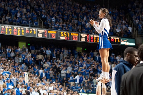 It's a dream to be wearing that uniform or an OSU uniform. I can't imagine standing in Rupp Arena r the Horseshoe looking at that many people trying to keep them pumped up.