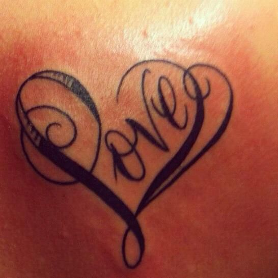 Word Love Tattoo Love Word Tattoo The Word Love Is Tattooed Onto