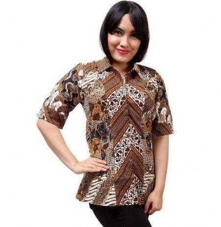 Model Kemeja Batik Wanita Terbaru Shirt Pinterest Models