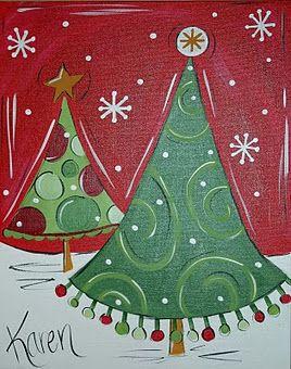 Love the Christmas art!