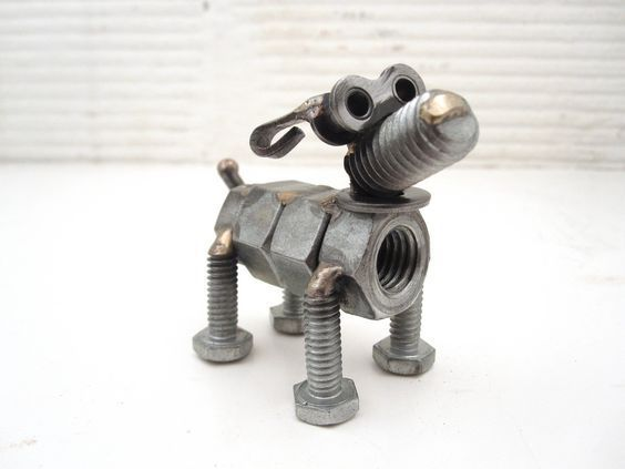 Nuts and Bolts Dog Sculpture | por Brown Dog Welding - Tap the pin for the most adorable pawtastic fur baby apparel! You'll love the dog clothes and cat clothes! <3