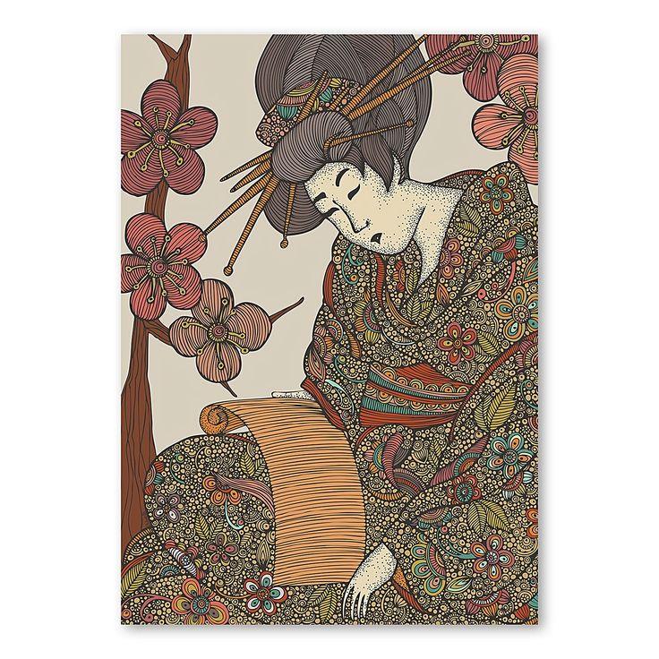 Geisha Print Art by Americanflat | Zanui
