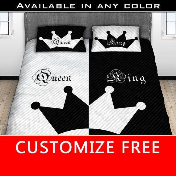 His Hers King Queen Comforter Side, King Queen Bed Set