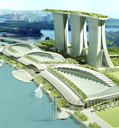 46 best images about green public buildings on pinterest for Marina bay sands architecture concept