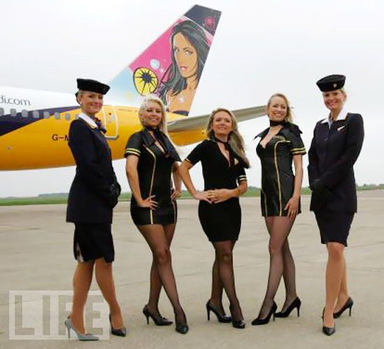 Monarch Airlines Flykandi Flight Attendant Uniforms