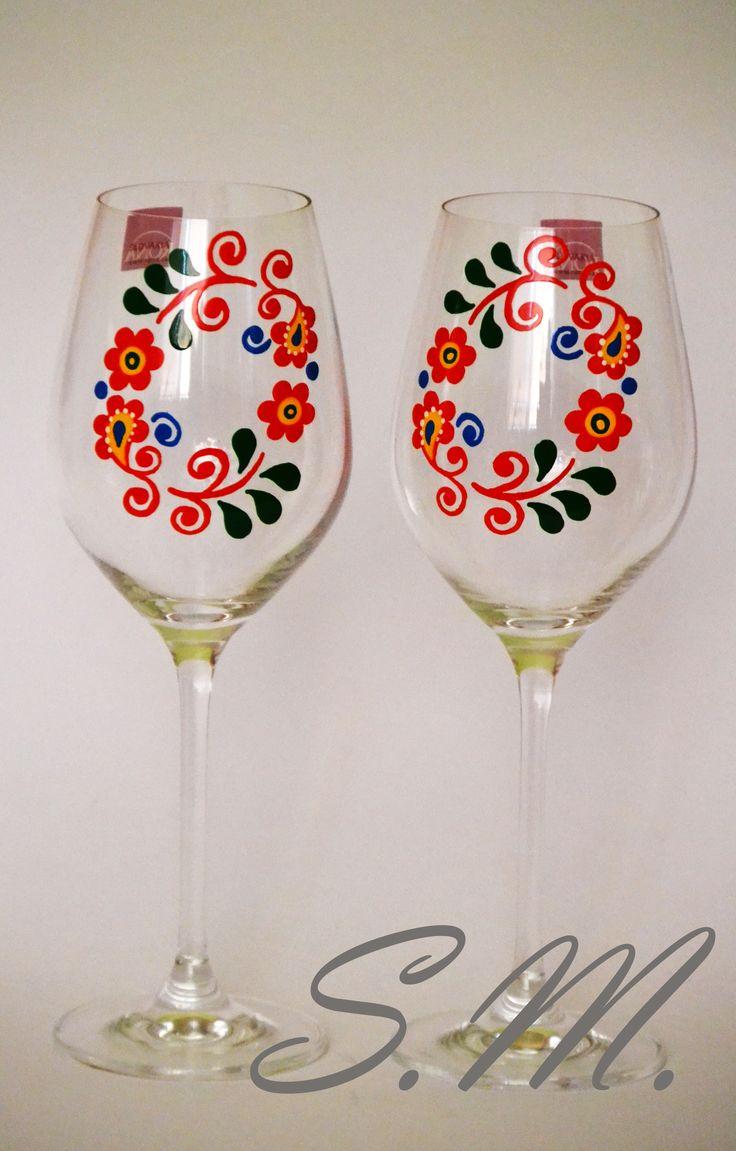 Malované skleničky 2 ks