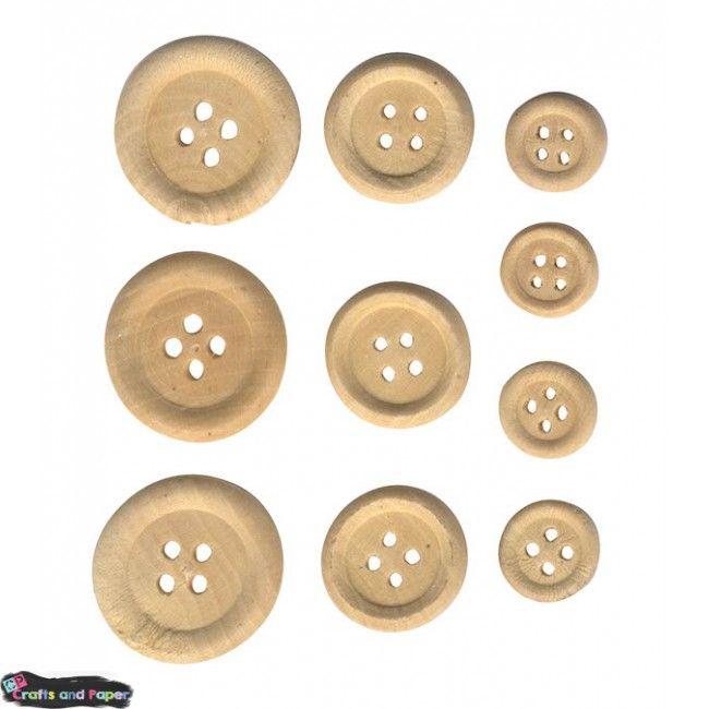 κουμπιά ξύλινα σετ 30τ. Υλικά χειροτεχνίας, Decoupage, Scrapbooking