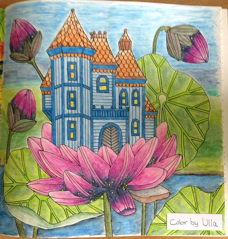 "My version, from the book ""Sagolikt"" by Emelie Lidehäll Öberg, painted with Derwent Inktense pencils."
