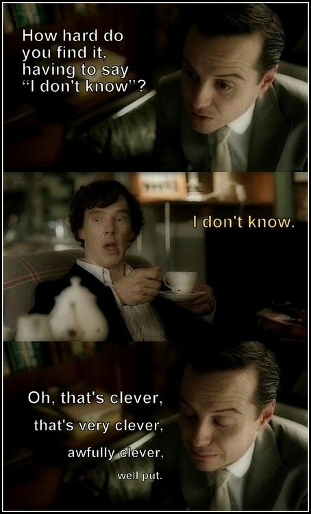 I kind of want more Sherlock-Moriarty moments...theyre so damn funny togeher!