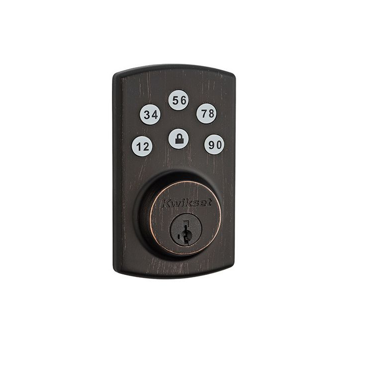 Signature Series Single Cylinder Keyless Electronic Deadbolt featuring SmartKey