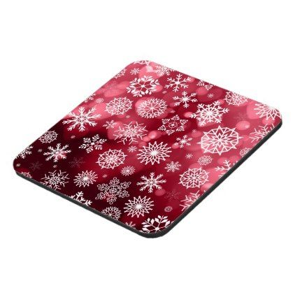 Snowflakes on a Valentine Background | Coaster - valentines day gifts love couple diy personalize for her for him girlfriend boyfriend