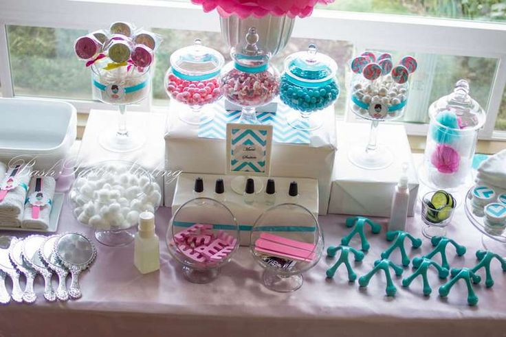 Spa Birthday Party Ideas | Photo 10 of 19 | Catch My Party