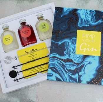 'Pimp Your Gin' Gift Set For Cocktail Lovers