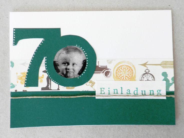 best 25+ einladungskarten 70. geburtstag ideas on pinterest, Einladungsentwurf