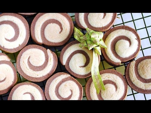 롤쿠키 만들기 Pinwheel Cookies 크리스마스 쿠키 선물 - YouTube