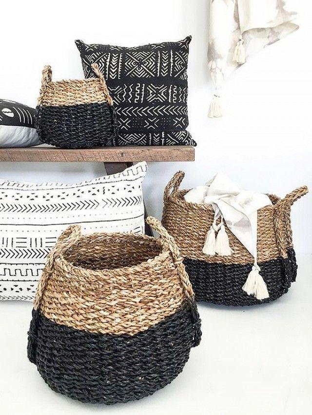 Baskets So Pretty You Won't Know They're Storage | MyDomaine ähnliche tolle Projekte und Ideen wie im Bild vorgestellt findest du auch in unserem Magazin
