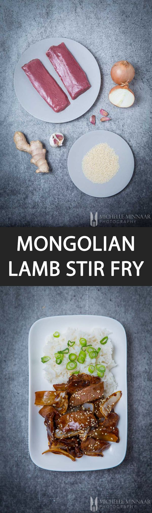 Mongolian Lamb Stir Fry - {NEW RECIPE} Mongolian #Lamb Stir fry is a superb #recipe to cook as a mid-week #dinner. Buy top quality lamb fillets, chop up some big #onions and you're good to go. The lamb benefits from being #marinated before cooking for extra flavour. Cooking is a quick process and what you end up with is tender lamb, crispy onion and yummy #sauce!