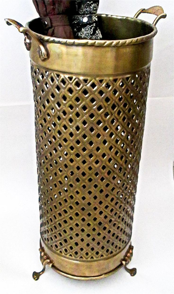 Solid brass umbrella stand openwork