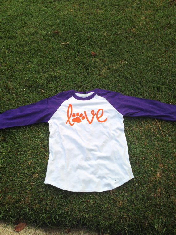 Monogrammed Clemson Tigers LOVE Shirt by SouthernSassStyle on Etsy