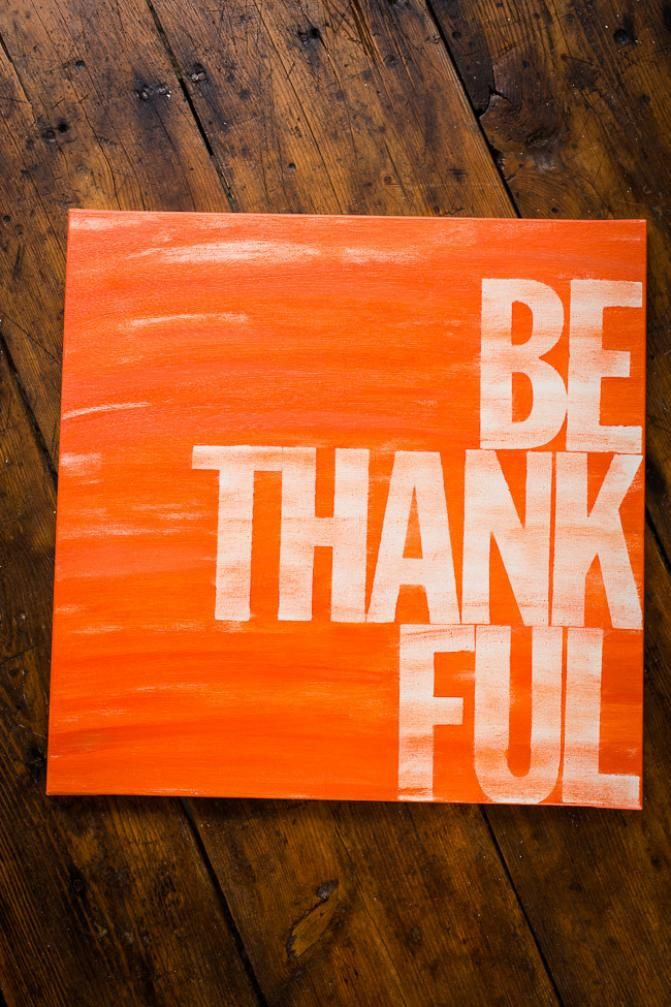 Brand Spankin' New: Be Thankful Canvas.  A lovely #Thanksgiving sentiment on BourbonandBoots.com