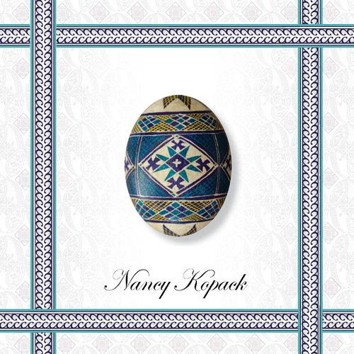6. The basic design of a Ukrainian Easter egg (pysanka) can be lightly drawn on an eggshell with a pencil to serve as a guide where beeswax will be applied. An eraser can be used on the white eggshell and rubber bands can assist with positioning the guidelines. Pencil lines generally disappear when the beeswax is removed