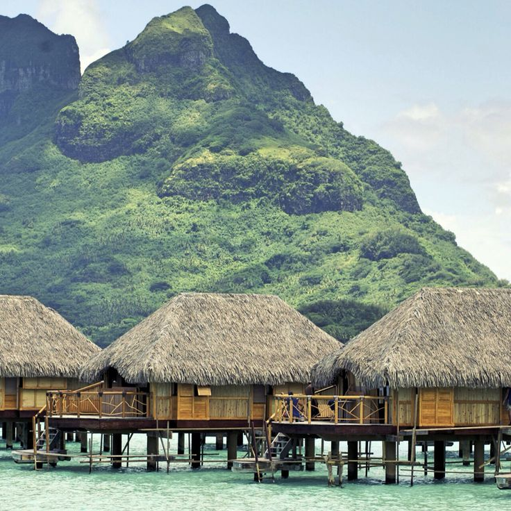 Overwater bungalows in Bali