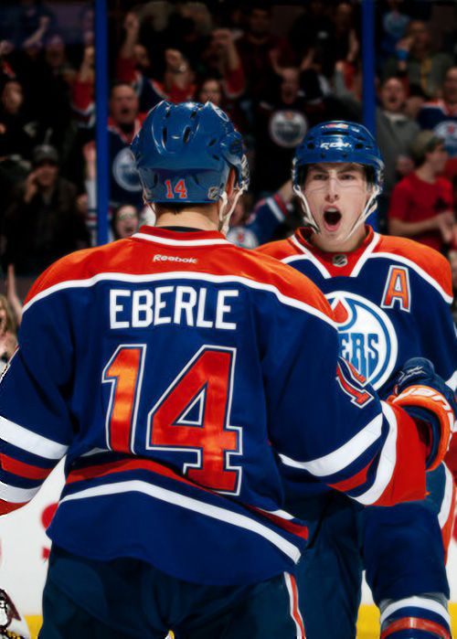 Jordan Eberle and Ryan Nugent-Hopkins, Edmonton Oilers