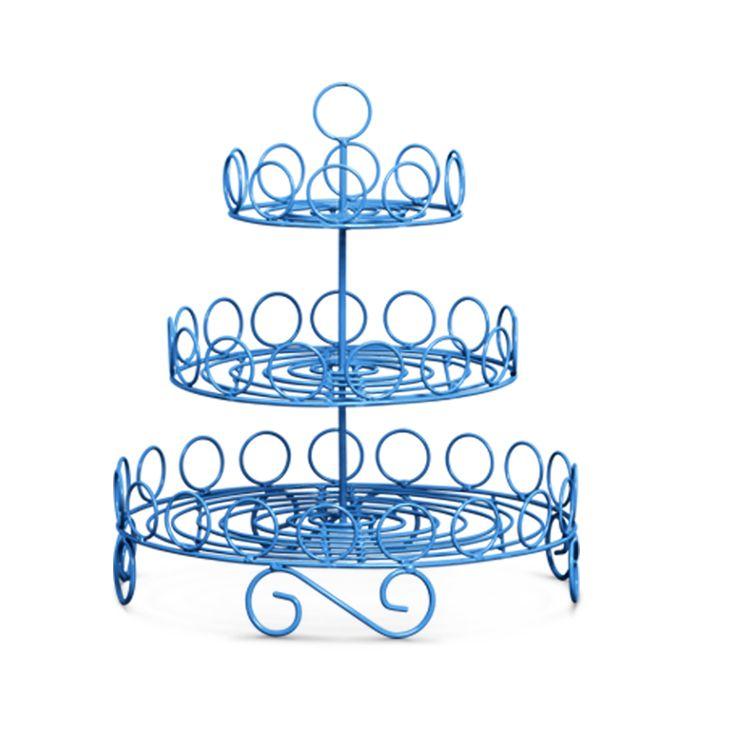Doceira em Argola Decorativa azul. Qualidade e charme diferenciado. Linda peça para deixar sua festa ainda mais estilosa.