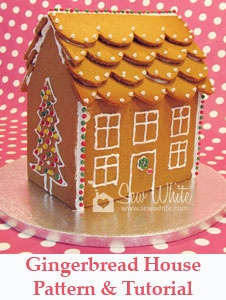 Free gingerbread house pattern and recipe