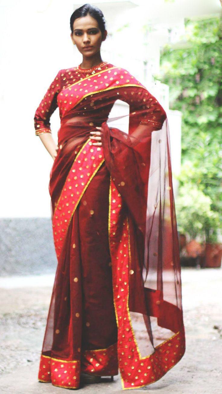 Red saree #saree #sari #blouse #indian #hp #outfit #shaadi #bridal #fashion #style #desi #designer #wedding #gorgeous #beautiful