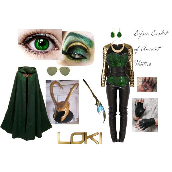Loki's Wife - Before the Casket of Ancient Winters by celia-joie-pate on Polyvore featuring Manish Arora, Preen, Bling Jewelry, First People First, Linda Farrow, The Row, Loki and IWouldTotallyRockThis